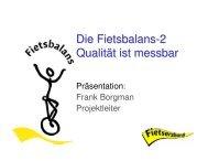 Die Fietsbalans-2, Qualität ist messbar, Frank ... - Fahrradakademie
