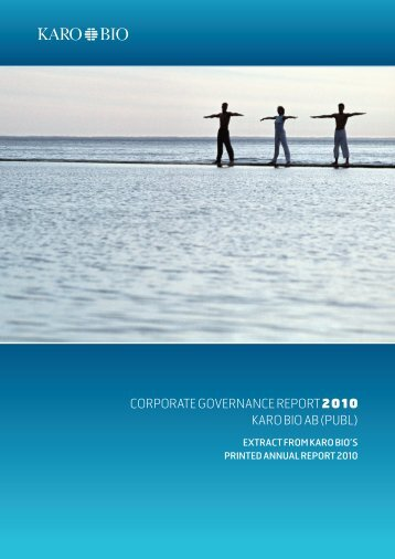 Corporate Governance Report 2010.pdf - Karo Bio