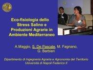 Ecofisiologia dello Stress Salino e Produzioni Agrarie in ... - Siagr.org