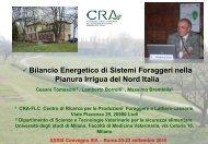 Bilancio Energetico di Sistemi Foraggeri nella Pianura ... - Siagr.org
