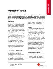 Vatten och sanitet - Svenska Röda Korset