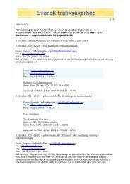 postmeddelanden Vägverket - våren 2004 och 1 och 30 - Svensk ...