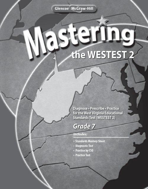 Mastering the WESTEST 2, Grade 7 - Glencoe