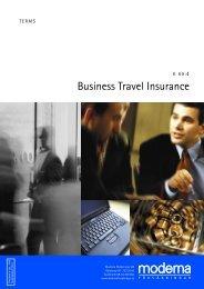 Business Travel Insurance - Moderna Försäkringar