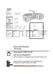 Resursklassifikation -förstudie Slutrapport 1999-12-30 AB Svensk ...