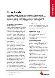 Fakta om hiv och aids - Svenska Röda Korset