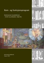 Rom- og funksjonsprogram - Deichmanske bibliotek