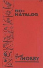 Borgs Hobby, katalog 1970 - Algonet.se