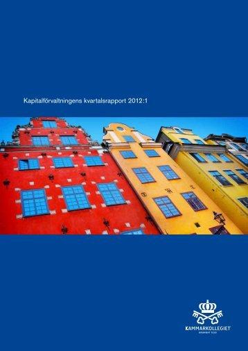 Kammarkollegiet Kapitalförvaltning kvartalsrapport Q1 2012