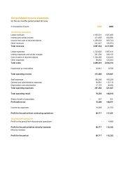 Konsoliderad resultaträkning och balansräkning - LeasePlan