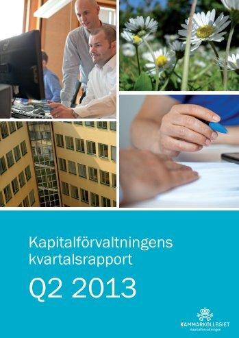 Kammarkollegiet Kapitalförvaltning kvartalsrapport Q2 2013
