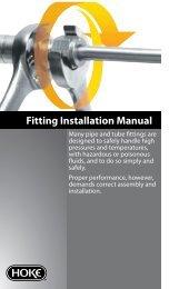 Fitting Installation Manual
