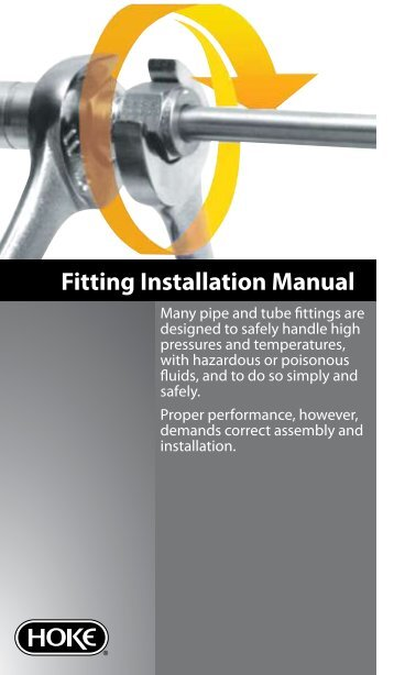 Fitting Installation Manual