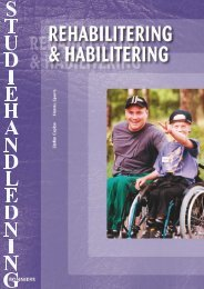 Studiehandledning Rehabilitering habilitering - Sanoma Utbildning