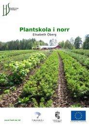 Plantskola i norr - Hushållningssällskapet Rådgivning Nord