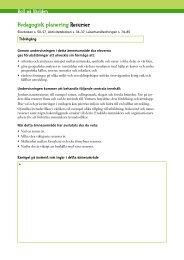Pedagogisk planering Resurser - Sanoma Utbildning
