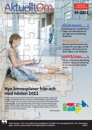 Nya ämnesplaner från och med hösten 2011 - Sanoma Utbildning