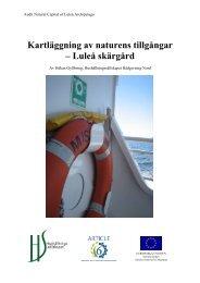 Audit natural capital of Luleå Archipelago - Hushållningssällskapet ...