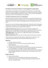 felles brev med Naturvernforbundet og Framtiden i ... - For Jernbane