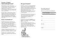 Hvorfor et Nordisk kulturlandskapsforbund? Hvem er forbundet for ...