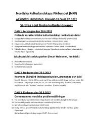Nordiska Kulturlandskaps Förbundet (NKF) Särdrag i det finska ...
