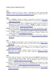 PUBLICATIONS TOBIAS RÜTTING: 2013: Rütting T, Huygens D ...