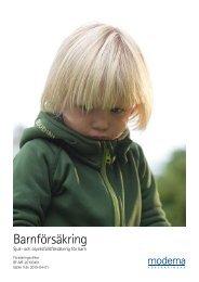 Fullständiga villkor - Sjuk- och Olycksfall (för barn) - Moderna ...