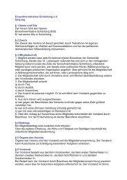 Einwohnerinitiative Schönberg e.V. Satzung § 1 Name und Sitz Der ...