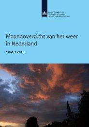 Maandoverzicht van het weer in Nederland - Knmi