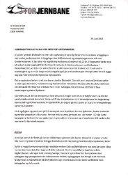 Les uttalelsen til Inter City her - For Jernbane