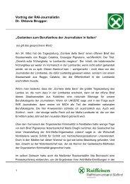 Vortrag der RAI-Journalistin Dr. Oktavia Brugger - Raiffeisenverband ...