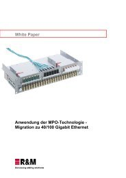 White Paper: Anwendung der MPO-Technologie - R&M Connections