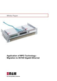 White Paper Application of MPO Technology ... - R&M Connections
