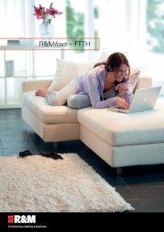 Brochure R&Mfoxs - FTTH, 2011 (pdf, 1.16 MB) - R&M Connections