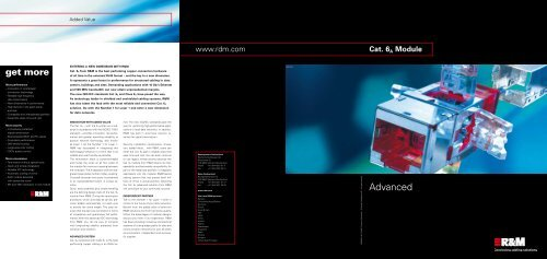 Flyer Cat. 6A ISO Modul - Advanced, 2010 (pdf ... - R&M Connections