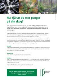 Information o program träff 2_Hur tjänar du mer pengar på din skog ...