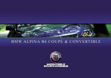 BMW ALPINA B6 COUPÉ & CONVERTIBLE - KLINIKA BMW