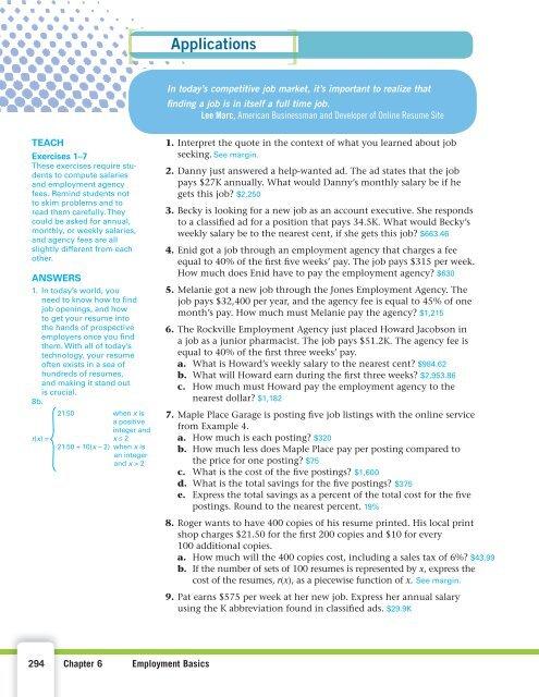 EXAMPLE 4 An online job s