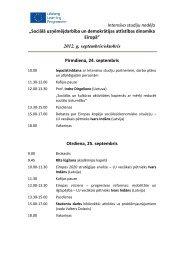 """""""Sociālā uzņēmējdarbība un demokrātijas attīstība Eiropā"""" programma"""