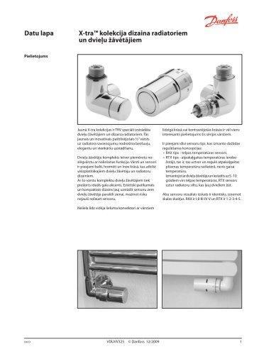 X-tra™ kolekcija dizaina radiatoriem un dvieļu žāvētājiem - Danfoss ...