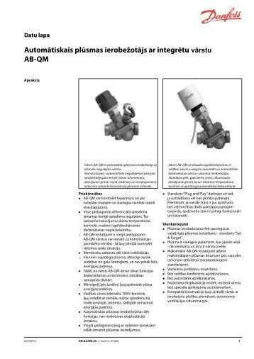 Automātiskais plūsmas ierobežotājs ar integrētu AB-QM - Danfoss ...