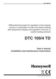 DTC 100/4 TD User's manual Installation and ... - Santeko