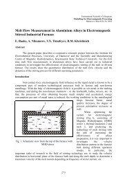 Melt Flow Measurement in Aluminium Alloys in Electromagnetic ...