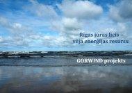 gorwind project kickoff meeting - Kurzemes plānošanas reģions
