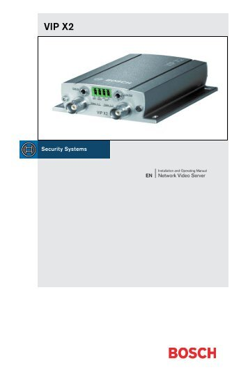 Operation Guide - Bosch Security Systems