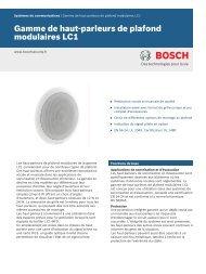 Gamme de haut-parleurs de plafond modulaires LC1