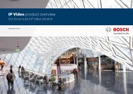 Commercial Brochure (IP Video Solutions guide) - Bosch Security ...