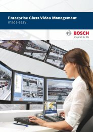 Commercial Brochure - Bosch Security Systems