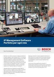 IP Management Software Perfetto per ogni rete - Bosch Security ...