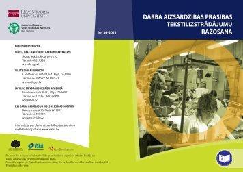 Atgadne tekstilrazosanas nodarbinatajiem - Eiropas darba drošības ...